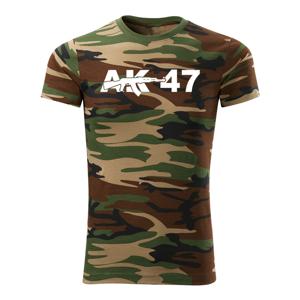 WARAGOD krátké tričko ak47, maskáčová 160g/m2 - L
