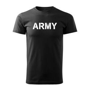 WARAGOD krátké tričko Army, černá 160g/m2 - L