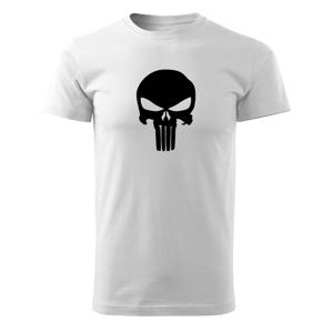 WARAGOD krátké tričko punisher, bílá 160g/m2 - M
