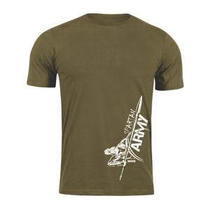 Waragod krátké tričko spartan army Myles, olivová 160g/m2 - 4XL