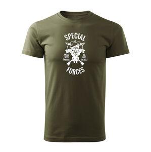 WARAGOD krátké tričko special forces, olivová 160g/m2 - M