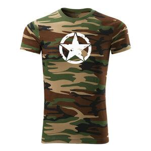 WARAGOD krátké tričko star, maskáčová 160g/m2 - XS