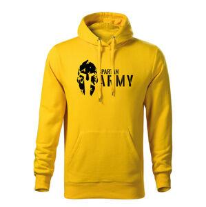 WARAGOD pánská mikina s kapucí spartan army, žlutá 320g / m2 - L