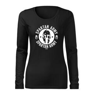 WARAGOD Slim dámské tričko s dlouhým rukávem Archelaos, černá 160g / m2 - XXL