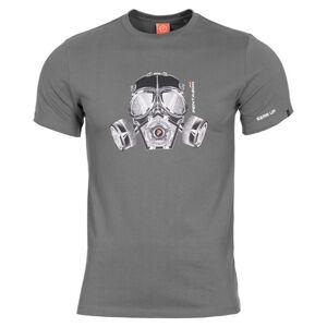 Pentagon tričko Gas Mask, Wolf Grey - XS