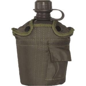 Mil-Tec US polní láhev olivová 1l s ALU miskou