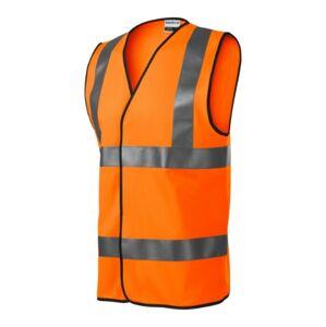 Rimeck HV Bright reflexní bezpečnostní vesta, fluorescenční oranžová - M