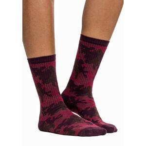 Urban Classics Camo ponožky 2 páry, burgundy camo - 39–42