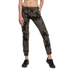 Urban Classics Dámské joggingové kalhoty, dark camo - S