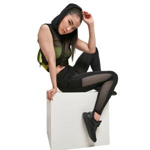 Urban Classics dámské Mesh Side Stripe legíny, černé - 3XL
