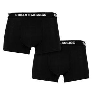 Urban Classics pánské boxerky, 2-PACK, černá - S