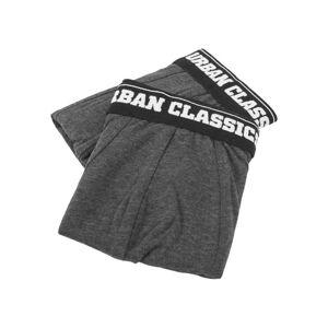 Urban Classics pánské boxerky double pack, šedé - XL