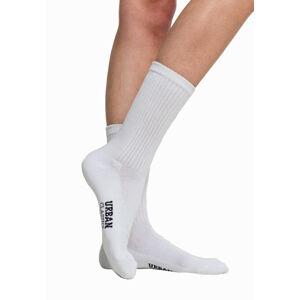 Urban Classics ponožky 3 páry, bílá - 43–46