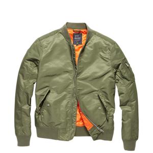 Vintage Industries Bomber Welder přechodná bunda, light olive - XL