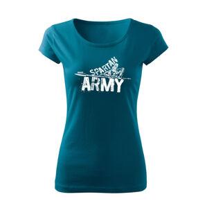 WARAGOD dámske krátke tričko Nabis, petrol blue150g/m2 - S