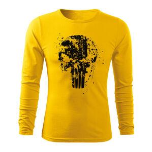 WARAGOD Fit-T tričko s dlouhým rukávem Frank The Punisher, žlutá 160g / m2 - M