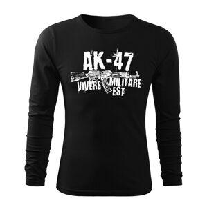 WARAGOD Fit-T tričko s dlouhým rukávem Seneca AK-47, černá 160g / m2 - L