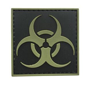WARAGOD Nášivka 3D Biohazard Square černá 5x5cm