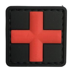 WARAGOD Nášivka 3D Medic černá 3x3cm
