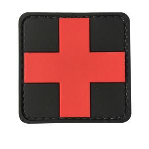 WARAGOD Nášivka 3D Medic černá 5x5cm