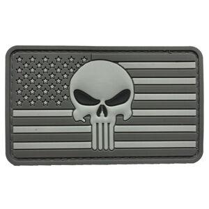 WARAGOD Nášivka 3D US Punisher Grey 8.5x5cm