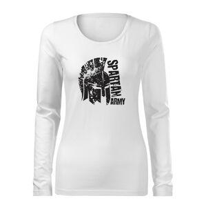 WARAGOD Slim dámské tričko s dlouhým rukávem León, bílá  160g / m2 - XS