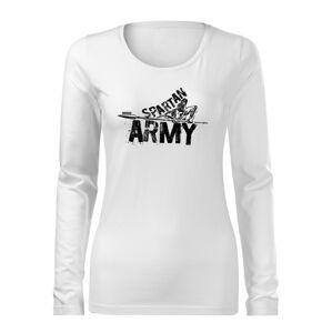 WARAGOD Slim dámské tričko s dlouhým rukávem Nabis, bílá  160g / m2 - S