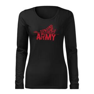 WARAGOD Slim dámské tričko s dlouhým rukávem RedNabis, černá 160g / m2 - XL