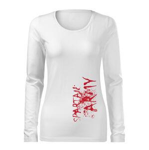 WARAGOD Slim dámské tričko s dlouhým rukávem War, bílá  160g / m2 - M